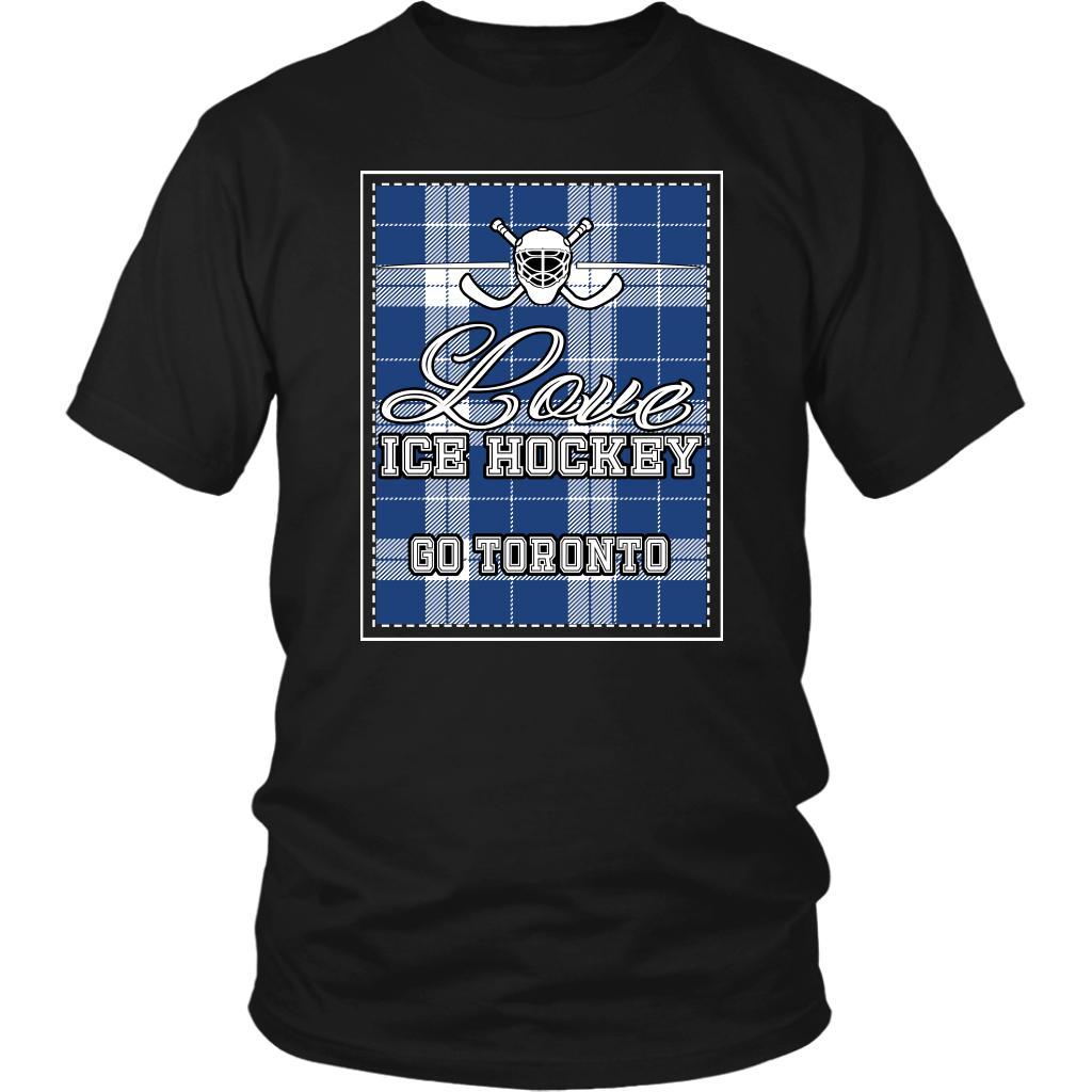 Love Hockey Go Toronto Fan Gifts Checkered Plaid Cool Unisex TShirt Men-NeatFind.net