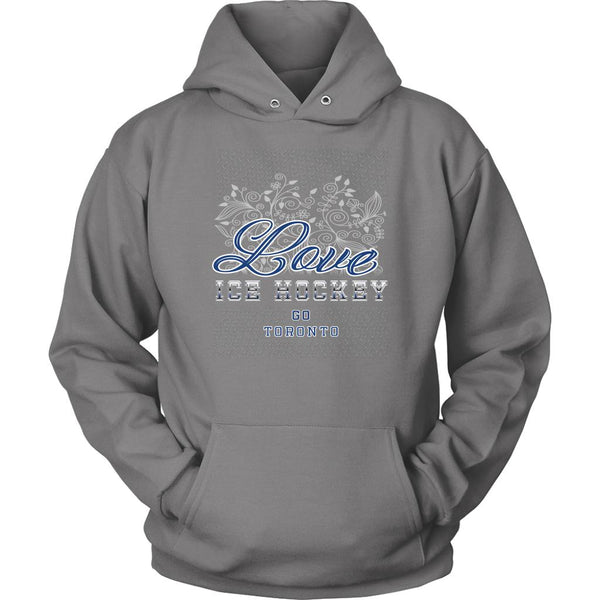 Love Hockey Go Toronto Fan Gifts Diamond Plate Cool Unisex Hoodie-NeatFind.net