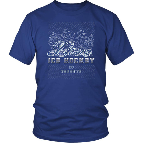 Love Hockey Go Toronto Fan Gifts Diamond Plate Cool Unisex TShirt Men-NeatFind.net