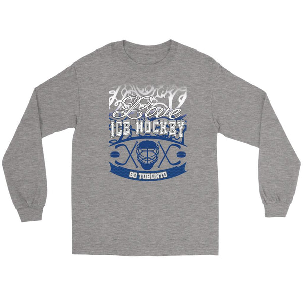 Love Hockey Go Toronto Fan Gifts Gradient Vine Cool Long Sleeve TShirt-NeatFind.net