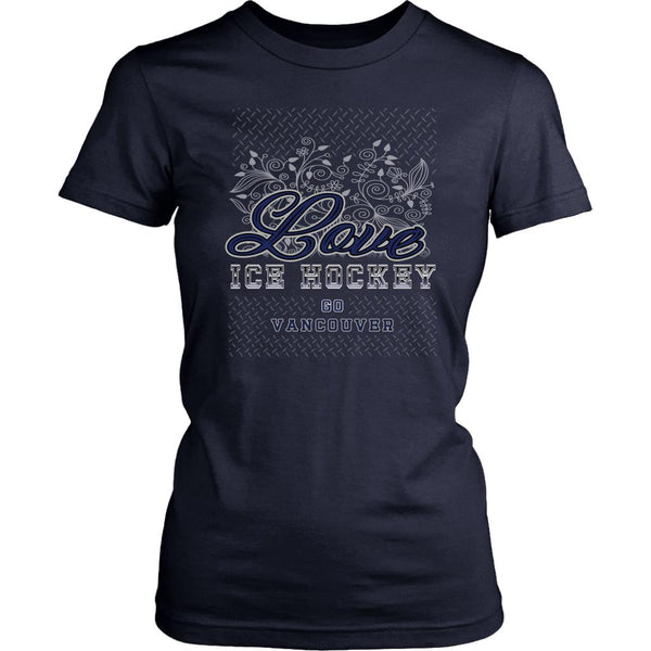Love Hockey Go Vancouver Fan Gifts Diamond Plate Cool T-Shirts For Women-NeatFind.net