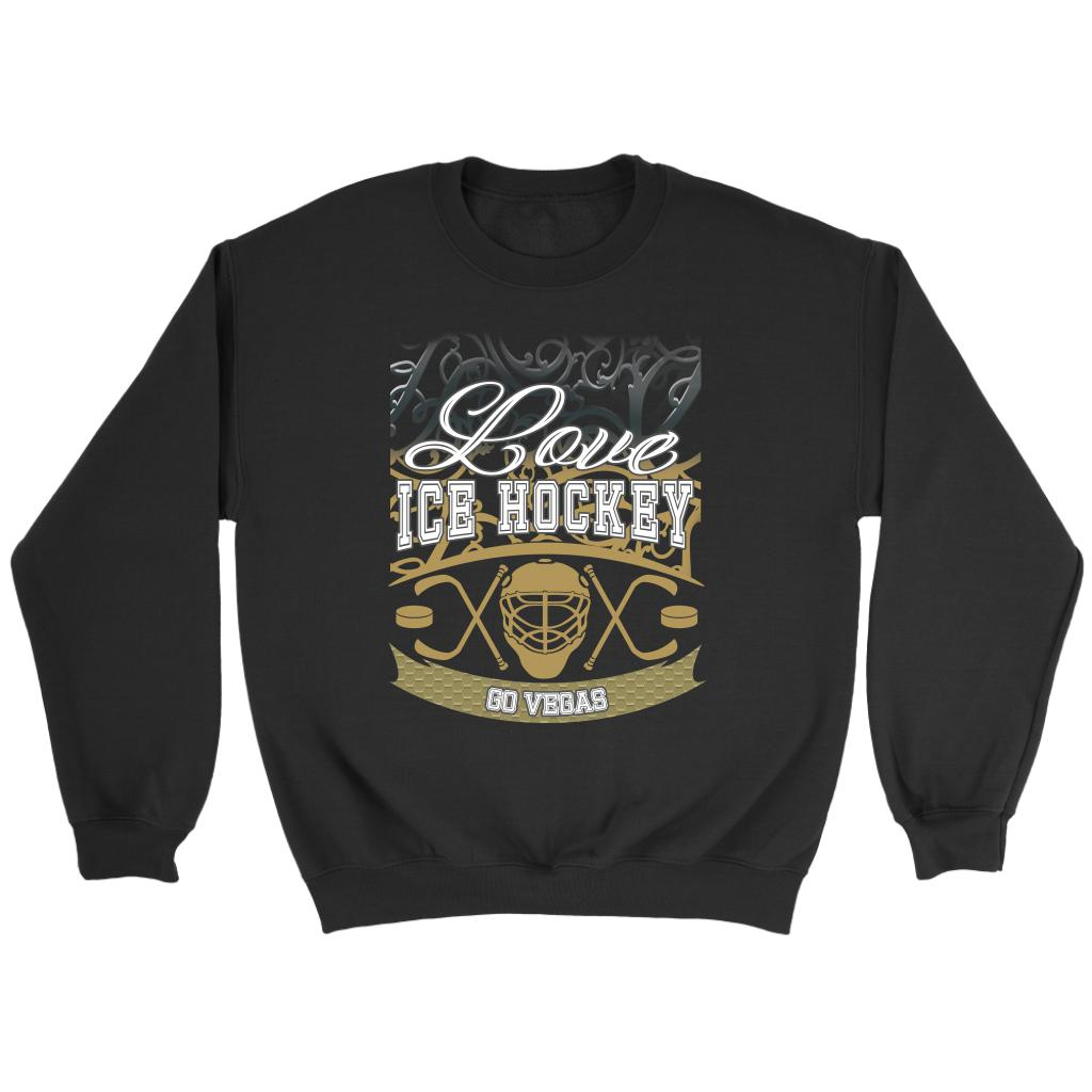 Love Hockey Go Vegas Fan Gifts Gradient Vine Unisex Sweaters Sweatshirt-NeatFind.net