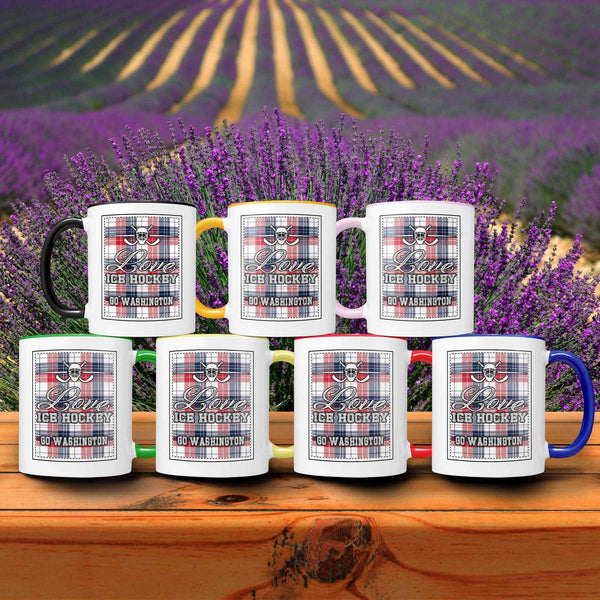 Love Hockey Go Washington Fan Gifts Checkered Plaid Cool 11oz 7Colors Mug-NeatFind.net