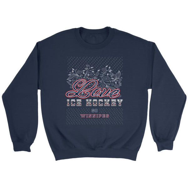 Love Hockey Go Winnipeg Fan Gifts Diamond Plate Unisex Sweaters Sweatshirt-NeatFind.net