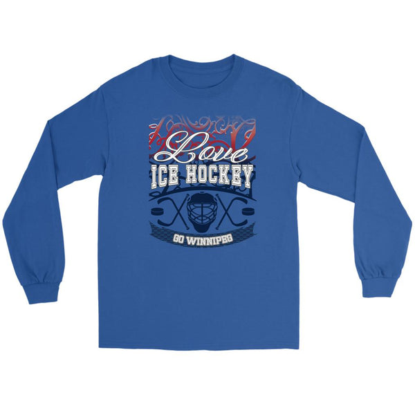 Love Hockey Go Winnipeg Fan Gifts Gradient Vine Cool Long Sleeve TShirt-NeatFind.net