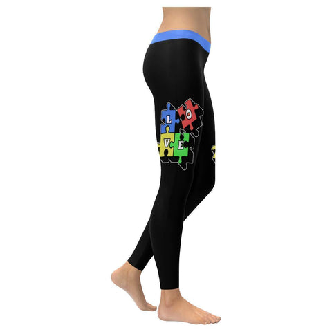 Love Needs No Words Autism Awareness Gift Special Need Teacher Mom Women Legging-NeatFind.net