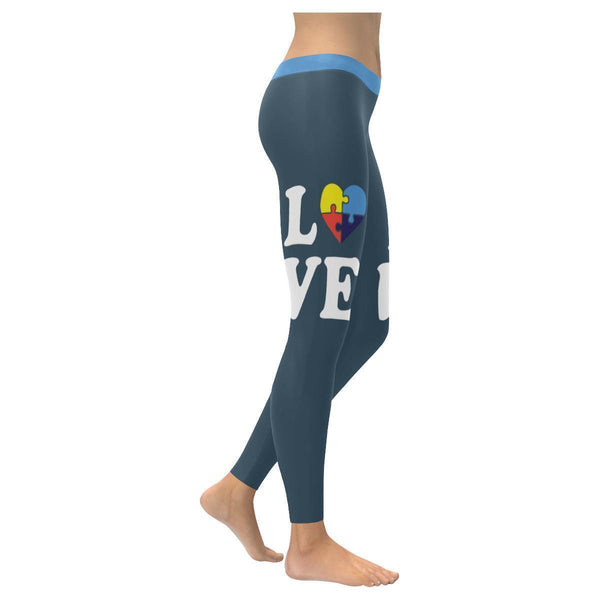 Love Needs No Words Autism Awareness Special Need Teacher Gift Womens Leggings-NeatFind.net