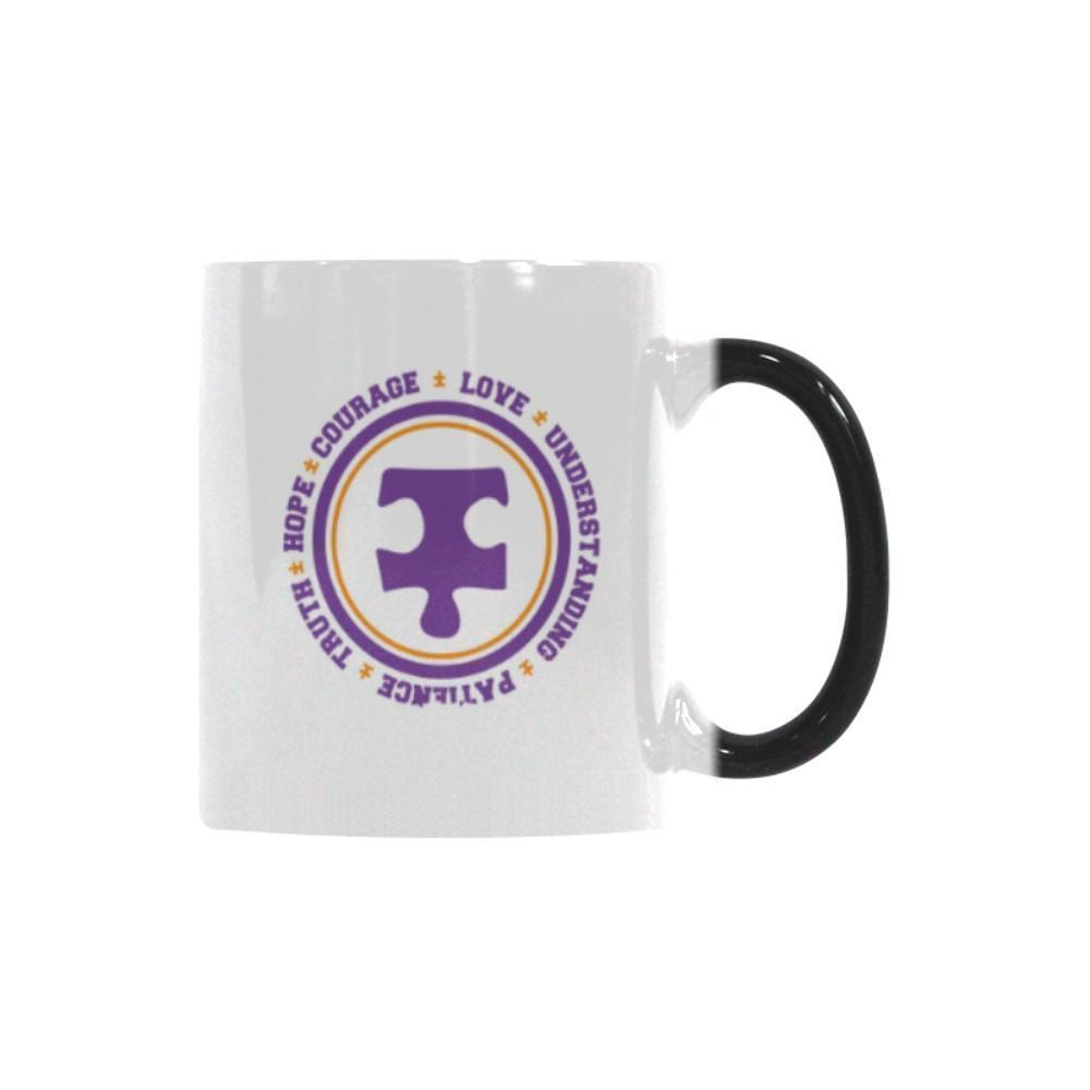 Love Understanding Patience Truth Hope Courage Autism Awareness Color Changing/Morphing 11oz Coffee Mug-NeatFind.net
