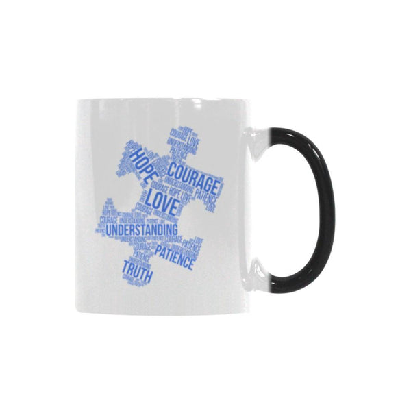 Love Understanding Patience Truth Hope Courage Autism Awareness V2 Color Changing/Morphing 11oz Coffee Mug-NeatFind.net