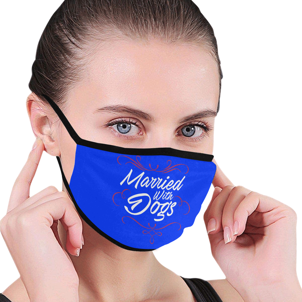 Married With Dogs Funny Washable Reusable Cloth Face Mask With Filter Pocket-Face Mask-NeatFind.net