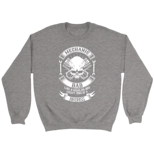 Mechanic Dad Like A Regular Dad Except More Of A Badass Funny Auto Gift Sweater-NeatFind.net