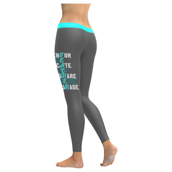 Mentor Inspire Educate Coach Share Influence Encourage Teacher Womens Leggings-NeatFind.net