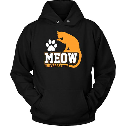 Meow Universkitty Cute Funny Cat Lovers Kitty Obsessed Friend Gift Ideas Hoodie-NeatFind.net