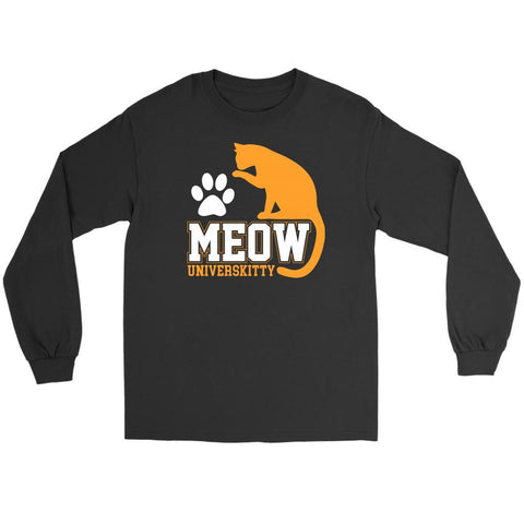 Meow Universkitty Cute Funny Cat Lovers Kitty Obsessed Friend Long Sleeve TShirt-NeatFind.net