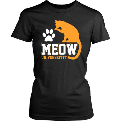 Meow Universkitty Cute Funny Cat Lovers Kitty Obsessed Friend Women's T-Shirt-NeatFind.net