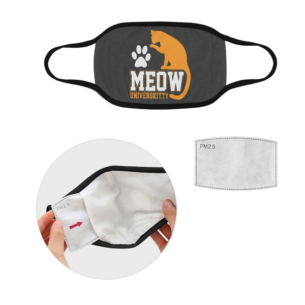 Meow Universkitty Funny Washable Reusable Cloth Face Mask With Filter Pocket-Face Mask-S-Grey-NeatFind.net