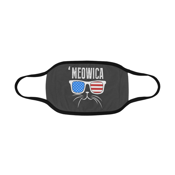 Meowica Patriotic Funny Washable Reusable Cloth Face Mask With Filter Pocket-Face Mask-NeatFind.net