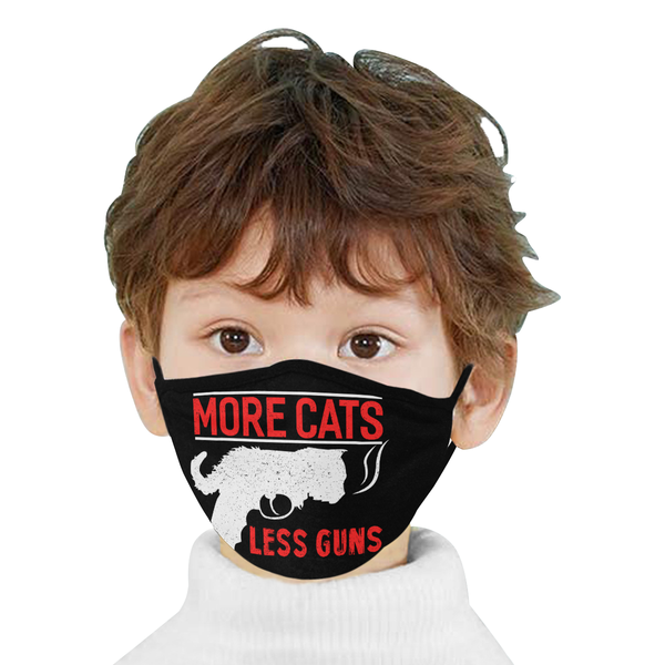 More Cats Less Guns Washable Reusable Cloth Face Mask With Filter Pocket-Face Mask-NeatFind.net