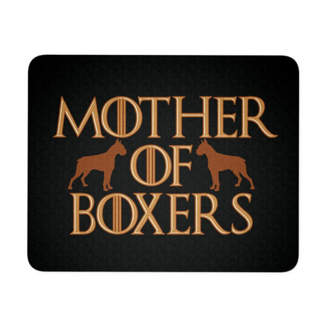 Mother Of Boxers Cute Mom Funny Unique Dog Lover Gift Idea Comfy Desk Mouse Pad-NeatFind.net