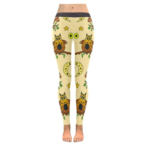 Multi Owls Low Rise Leggings For Women (3 colors)-NeatFind.net