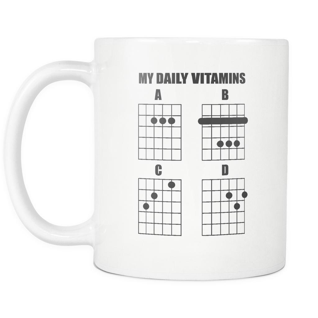 My Daily Vitamins A B C D Guitar String Notes Chords Best Cool Funny