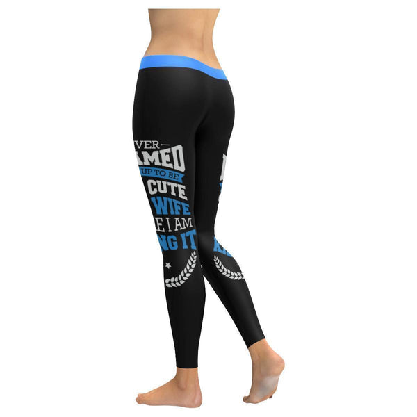 Never Dreamed To Be Cute Police Wife Here I Am Killing It UPF40+ Womens Leggings-NeatFind.net