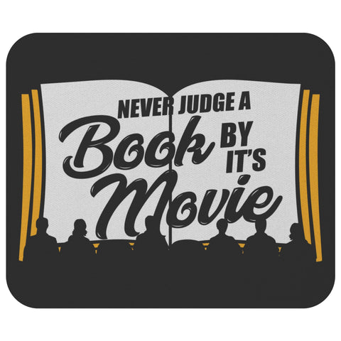 Never Judge Book Movie Unique Avid Reader Funny Book Lover Gift Ideas Mousepad-NeatFind.net