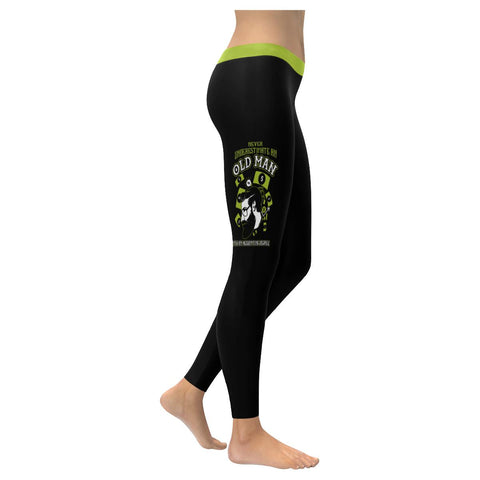 Never Underestimate An Old Man With An Accounting Degree CPA Gift Women Leggings-NeatFind.net