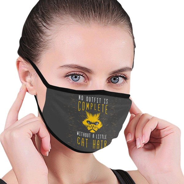 No Outfit Is Complete Without Little Cat Hair Washable Reusable Cloth Face Mask-Face Mask-NeatFind.net