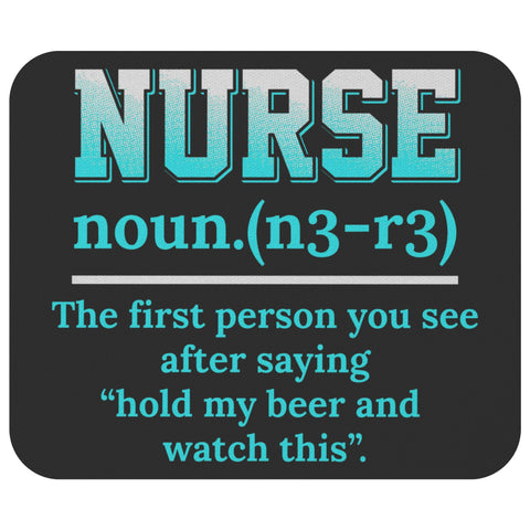 Nurse Noun Unique Funny Registered Practitioner Graduation Gift Ideas Mouse Pad-NeatFind.net