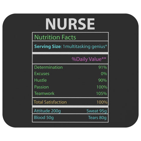 Nursing Facts Funny Registered Nurse Graduation Practitioner Gift Idea Mouse Pad-NeatFind.net