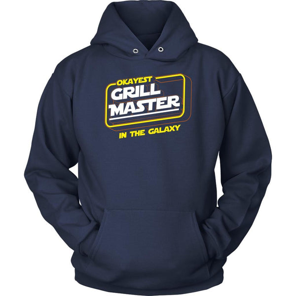 Okayest Grill Master In The Galaxy Awesome BBQ Cool Funny Gifts Unisex Hoodie-NeatFind.net
