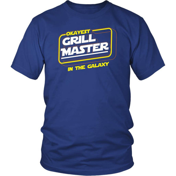 Okayest Grill Master In The Galaxy Awesome BBQ Cool Funny Gifts Unisex Tee-NeatFind.net