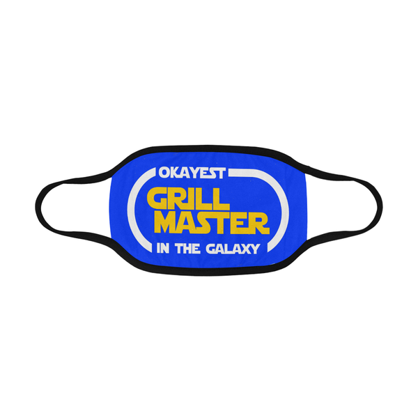 Okayest Grill Master In The Galaxy Washable Reusable Cloth Face Mask With Filter-NeatFind.net