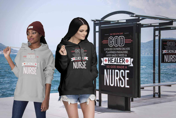 On The 8th Day God Looked Down On His Planned Paradise & Made A Nurse Hoodie-NeatFind.net