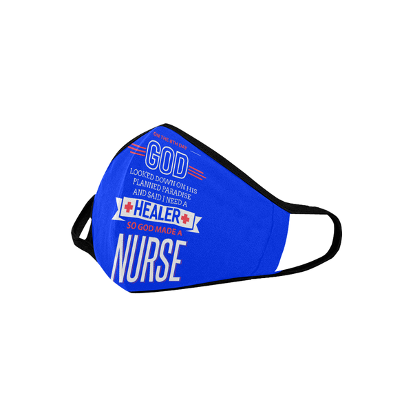 On The 8th Day GOD Made A Nurse Washable Reusable Cloth Face Mask With Filter-Face Mask-NeatFind.net