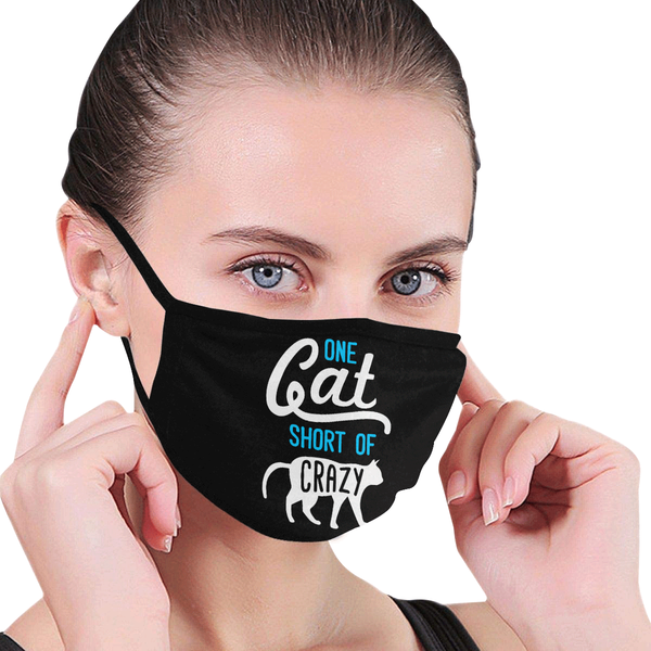One Cat Short Of Crazy Washable Reusable Cloth Face Mask With Filter Pocket-Face Mask-NeatFind.net