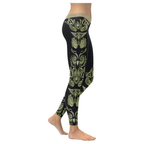 Owl Low Rise Leggings For Women-NeatFind.net