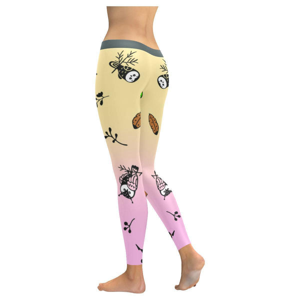 Owl Pattern Low Rise Leggings For Women (4 colors)-NeatFind.net