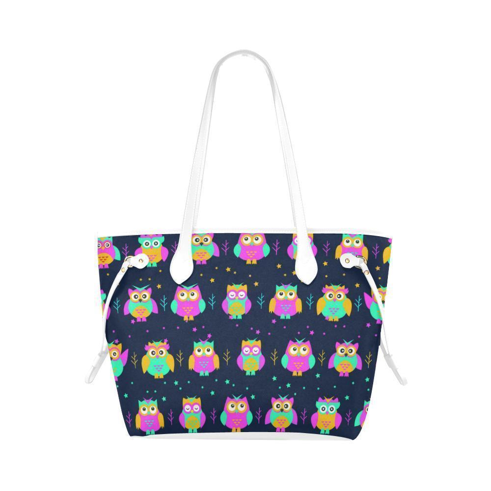 Owl Print #1 Water Resistant Canvas Tote Bags (4 colors)-NeatFind.net
