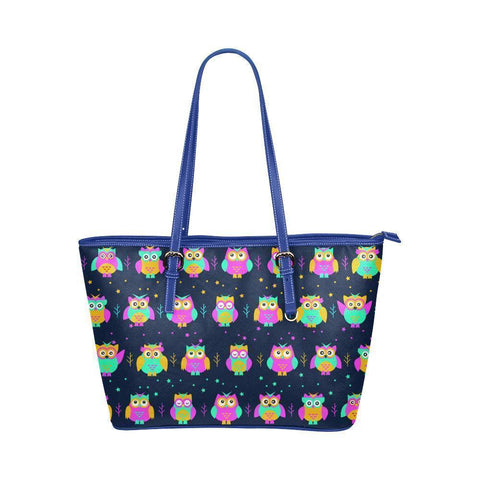 Owl Print #1 Water Resistant Leather Tote Bags (5 colors)-NeatFind.net