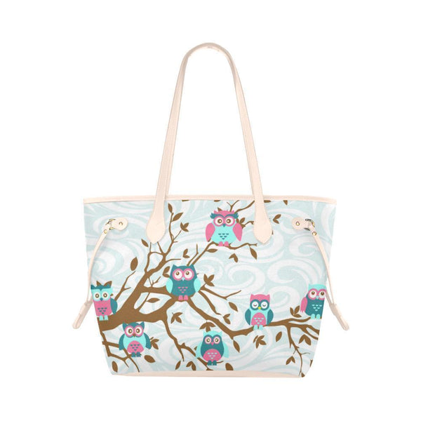 Owl Print #2 Water Resistant Canvas Tote Bags (4 colors)-NeatFind.net