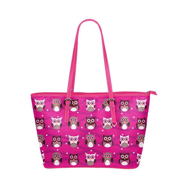 Owl Print #3 Water Resistant Leather Tote Bags (5 colors)-NeatFind.net