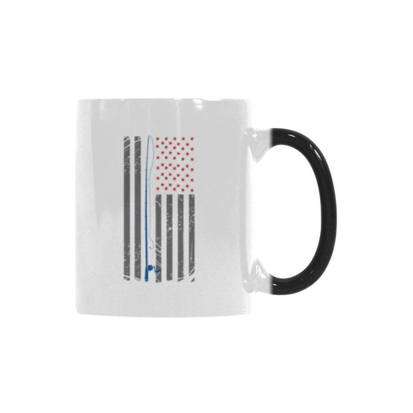 Patriotic Fishing Rod USA American Flag Color Changing/Morphing 11oz Mug-NeatFind.net