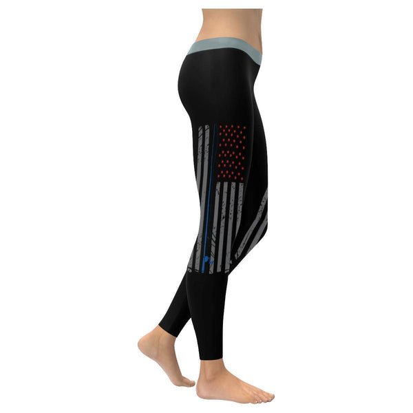 Patriotic Fishing Rod USA American Flag Low Rise Leggings For Women (3 colors)-NeatFind.net