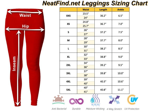 Patriotic Fishing Rod USA American Flag V2 Low Rise Leggings For Women (3 colors)-NeatFind.net