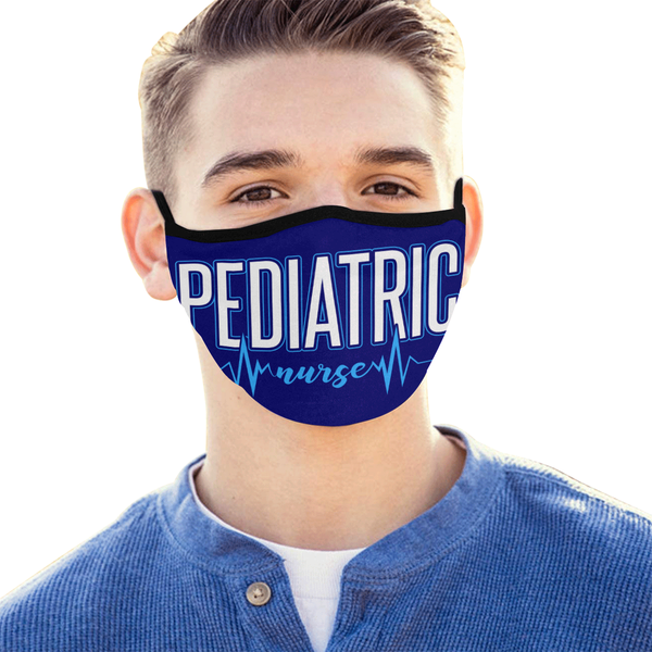 Pediatric Nurse Washable Reusable Cloth Face Mask With Filter Pocket-Face Mask-NeatFind.net