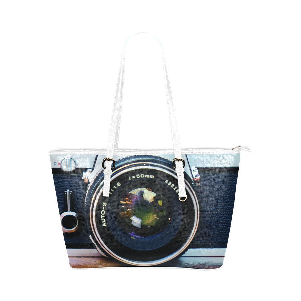 Photography #1 Water Resistant Leather Tote Bags (5 colors)-NeatFind.net