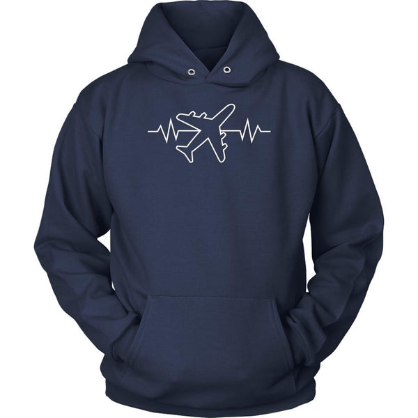 Pilot Heart Beat Pulse Gag Humor Unique Aviation Gifts Funny Gift Ideas Hoodie-NeatFind.net