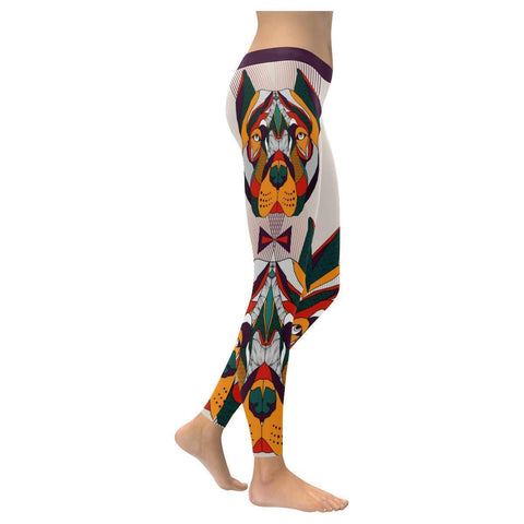 Pitbull Cute Comfy UPF40+ Moisture Wicking Non See Through Womens Leggings-NeatFind.net